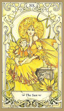 Mystic Faery Tarot by Linda Ravenscroft  The Yellow of the Sun Brings Messages of Success