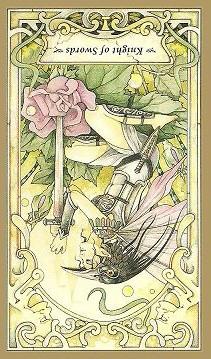Today's Tarot Meditation Drawing: Knight of Swords