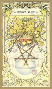 Ace of Pentacles - Inverted