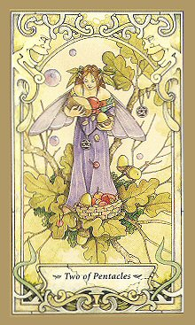 Today's Tarot Meditation Drawing: Two of Pentacles (1/2)