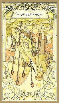 9 of Wands Inverted