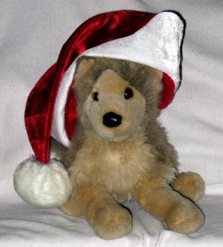 Santa Wolf by Springwolf