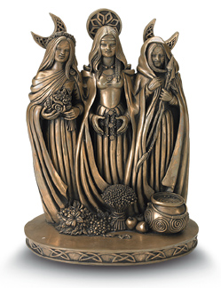 Triple Goddess Statue by Mickie Mueller