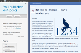 444th Post On Springwolf Reflections
