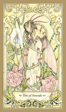 Ten of Swords Mystic Faery Tarot by Linda Ravenscroft