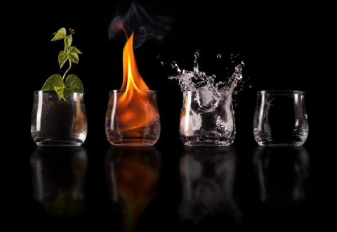 Elements: Earth, Fire, Water, Air