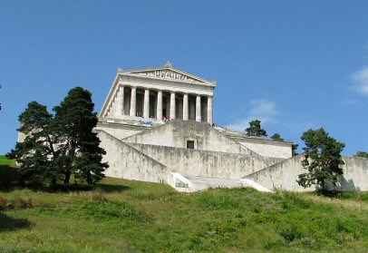 King Ludwig I had a replica of Valhalla build Walhalla constructed between 1830 and 1842