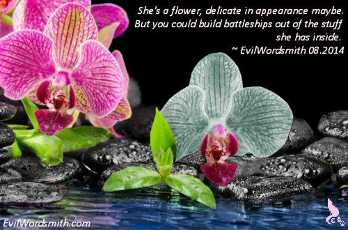 A Battleship Flower by EvilWordsmith © 201408