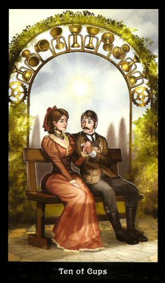 The Steampunk Tarot by Aly Fell - 10 of cups