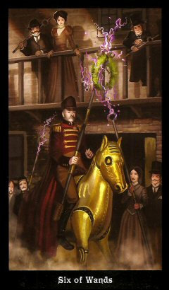 The Steampunk Tarot by Aly Fell - 6 of Wands