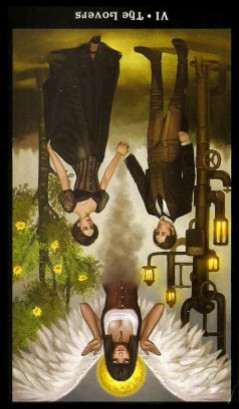 The Steampunk Tarot by Aly Fell - The Lovers Inverted