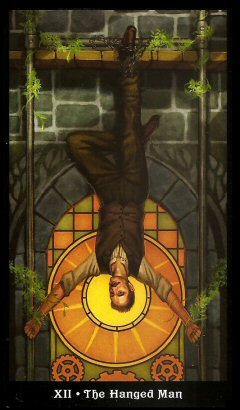 The Steampunk Tarot by Aly Fell - The Hanged Man