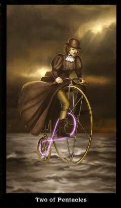 The Steampunk Tarot by Aly Fell - Two of Pentacles