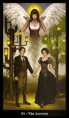 The Steampunk Tarot by Aly Fell - The Lovers
