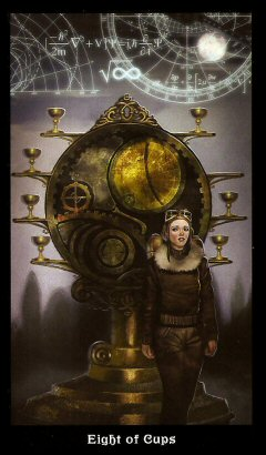 The Steampunk Tarot by Aly Fell - Eight of Cups