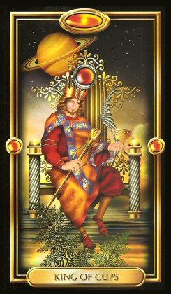 The Gilded Tarot by Ciro Marchetti - King of Cups