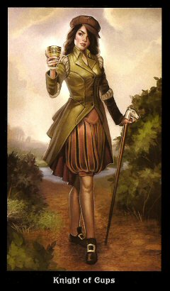 The Steampunk Tarot by Aly Fell - Knight of Cups