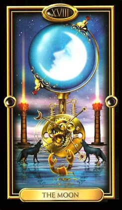The Gilded Tarot by Ciro Marchetti - The Moon XVIII