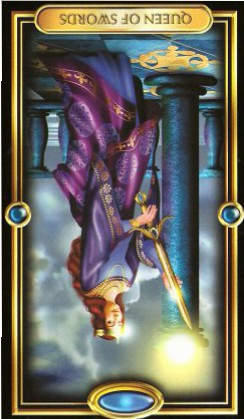 The Gilded Tarot by Ciro Marchetti - Queen of Swords Inverted