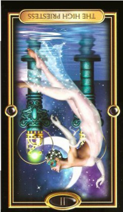 The Gilded Tarot by Ciro Marchetti - The High Priestess II - Inverted
