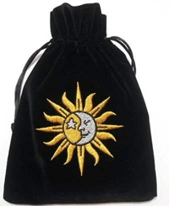 Black Velvet Sun & Moon Tarot Bag