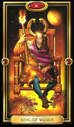 The Gilded Tarot by Ciro Marchetti - King of Wands