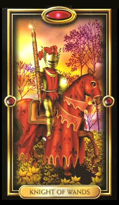 The Gilded Tarot by Ciro Marchetti -  Knight of Wands- Knight of Wands