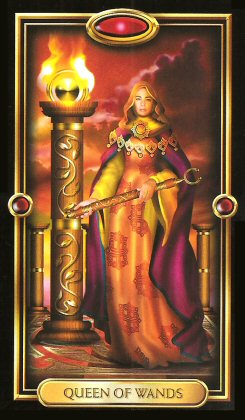 The Gilded Tarot by Ciro Marchetti - Queen of Wands