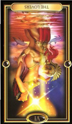 The Gilded Tarot by Ciro Marchetti - The Lovers VI - Inverted