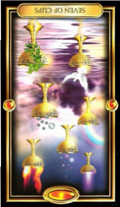 The Gilded Tarot by Ciro Marchetti - Seven of Cups Inverted