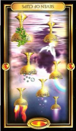 The Gilded Tarot by Ciro Marchetti - Seven of Cups Inverted