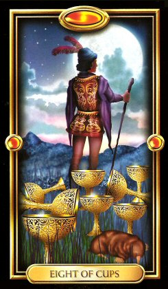 The Gilded Tarot by Ciro Marchetti  - Eight of Cups