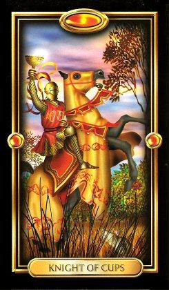 The Gilded Tarot by Ciro Marchetti  - Knight of Cups