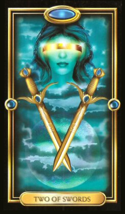 The Gilded Tarot by Ciro Marchetti  - Two of Swords