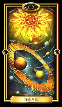 The Gilded Tarot by Ciro Marchetti - The Sun XIX