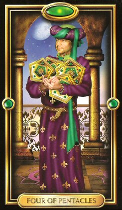 The Gilded Tarot by Ciro Marchetti - Four of Pentacles