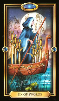 The Gilded Tarot by Ciro Marchetti - Six of Swors