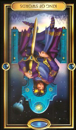 The Gilded Tarot by Ciro Marchetti - King of Swords : Inverted