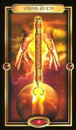 The Gilded Tarot by Ciro Marchetti - Ace of Wands - Inverted