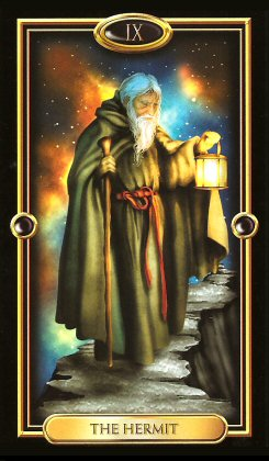 The Gilded Tarot by Ciro Marchetti - The Hermit IX