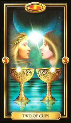 The Gilded Tarot by Ciro Marchetti - 2 of Cups