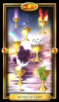 The Gilded Tarot by Ciro Marchetti  - Seven of Cups