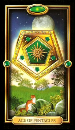 The Gilded Tarot by Ciro Marchetti - Ace of Pentacles