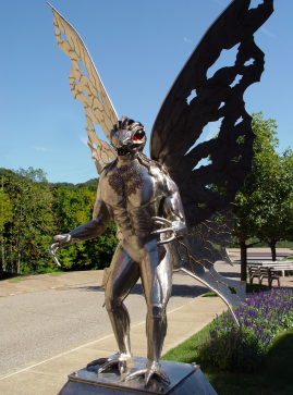 The Mothman Statue in Mount Pleasant