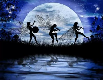 Fairy Moon Dance by Julie Fain (Juliefainart.com)