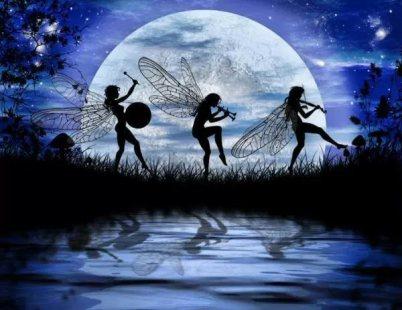 Fairy Moon Dance by Julie Fain (Juliefainart.com)
