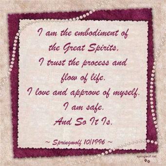 I Am Safe Affirmation  - by Springwolf